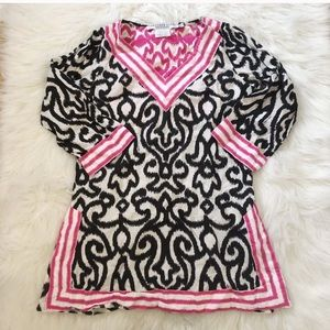 Gretchen Scott Damask Print Preppy Tunic